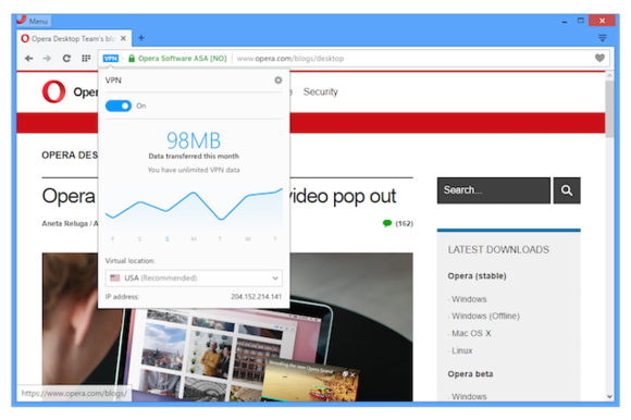 Opera VPN Browser FREE & Unlimited