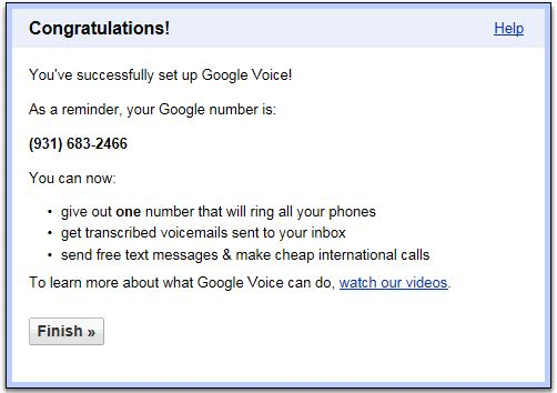 Google Voice Account and FREE Google Voice Number Outside USA 11