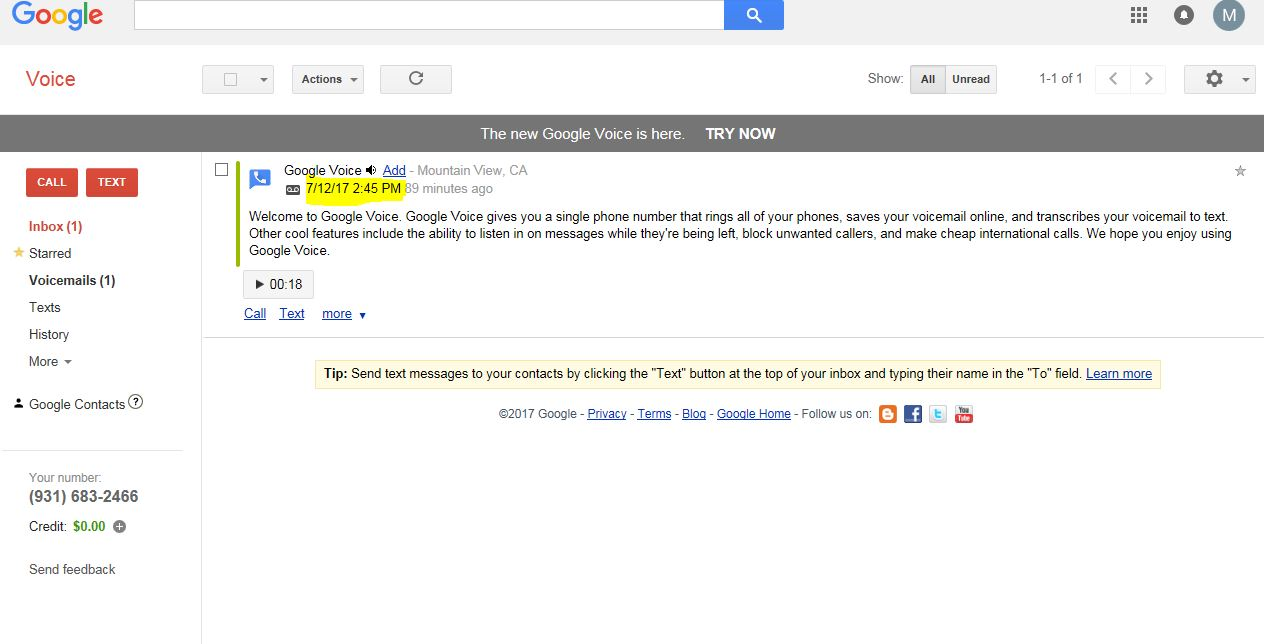 Google Voice Account and FREE Google Voice Number Outside USA 20