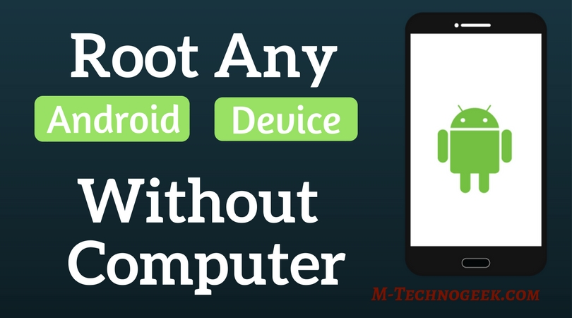 how to root phone without pc