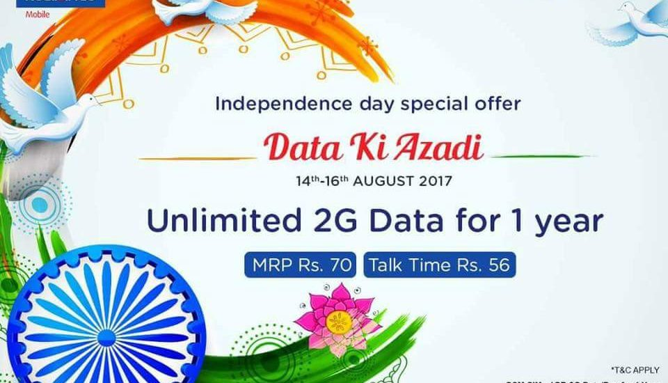 "RCom propels ""Data Ki Azadi"" render, plying boundless 2G the necessary data for one year"