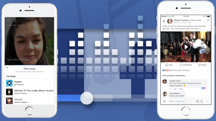 Facebook Allows Videos With Copyrighted Music, Tests Lip Sync Live